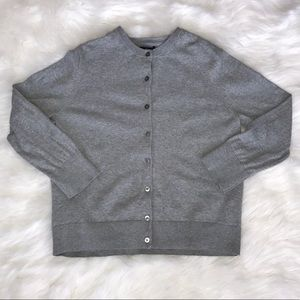 GAP Women's Gray Button Up Sweater Large